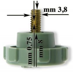 Śruba zielona do mocowania tamborków SZ0001