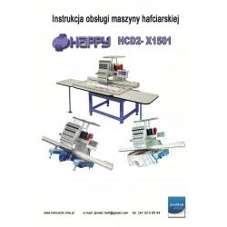 Instrukcja obsługi maszyny hafciarskiej HAPPY HCD2x 1501