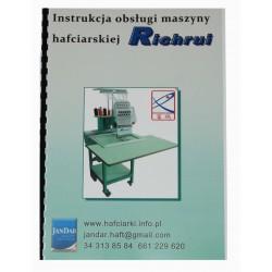 Instrukcja obsługi maszyny hafciarskiej RICHRUI RU-FT-1201CT,RU-FT-1501CT