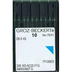 igła szwalnicza GROZ-BECKERT DB X K5 75/11 FFG SES