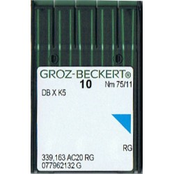 igła szwalnicza GROZ-BECKERT DB X K5 75/11 RG